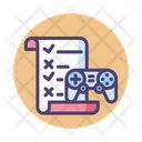 Game Evaluation List Planning Icon