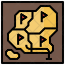Game Map Maps And Location Route Icon