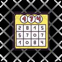 Chance Lotto Board Game Icon