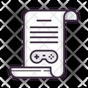 Game Scenario Game Game Design Icon