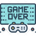 Gameover Video Videogame Icon