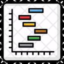 Gantt Chart Statistics Infographic Icon