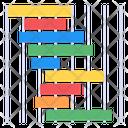 Gantt Chart Data Analytics Business Statistics Icon