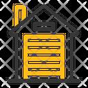 Garage Door House Icon
