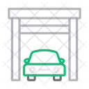 Garage Building Car Icon