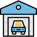 Barn Garage Lot Icon