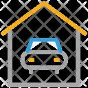 Garage Porch Car Icon
