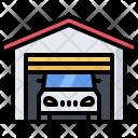 Garage Car Building Icon