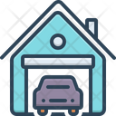 Garage Warehouse Parking Icon