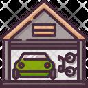 Bike Cars Garage Icon