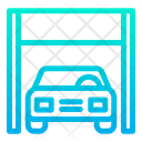 Auto Service Car Car Shed Icon