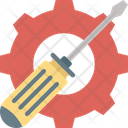 Garage Tool Gear And Screwdriver Hand Tools Icon