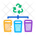 Garbage Distribution Recycle Icon