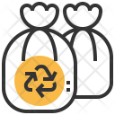 Garbage Bags Dustbin Icon