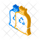 Garbage Bags Isometric Icon