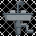Garbage Disposal Water Faucet Garbage Icon