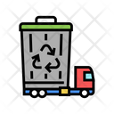 Garbage Recycling Truck Garbage Removal Icon