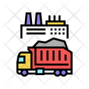 Garbage Truck Plant Icon