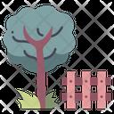 Garden Tree Fence Icon