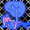 Garden Couple Man Icon