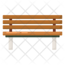 Wooden Bench Park Bench Outdoor Furniture Icon