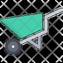Garden Cart Wheelbarrow Concrete Wheelbarrow Icon