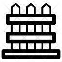 Garden Fence Yard Fence Icon