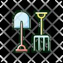 Fork Shovel Spade Icon