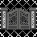 Garden Gate Main Entrance Fence Icon