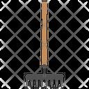 Garden Rake Hand Icon