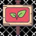 Garden Sign Nameplate Icon