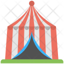 Garden Tent Red Icon