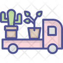 Garden Vehicle Cactus Pot Icon