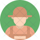 Gardener Farmer Caretaker Icon