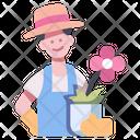 Garden Male Gardening Icon