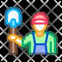 Shovel Worker Gardener Icon