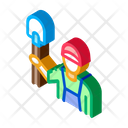 Shovel Worker Gardener Icon