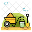 Gardening Tools Wheelbarrow Icon