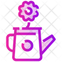 Spring Flower Watering Icon