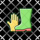 Gloves Boots Gardening Icon
