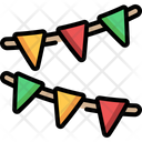 Garland Birthday And Party Ornaments Icon