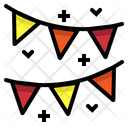 Flags Birthday Garland Icon