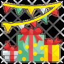 Garland Celebration Giftbox Icon
