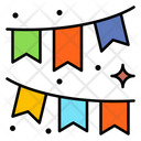 Garland Flags Paper Icon