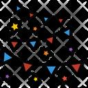 Garland Party Ribbon Icon