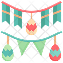 Garland Flags Ornament Icon