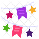Bunting Pennants Party Flags Icon