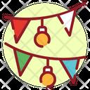 Xmas Decor Garlands Christmas Decoration Icon