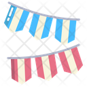 Garlands Party Flags Decoration Icon