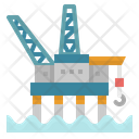 Gas Platform Oil Icon